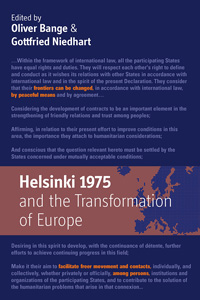 Helsinki 1975 and the Transformation of Europe