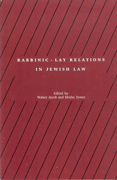 Rabbinic - Lay Relations in Jewish Law