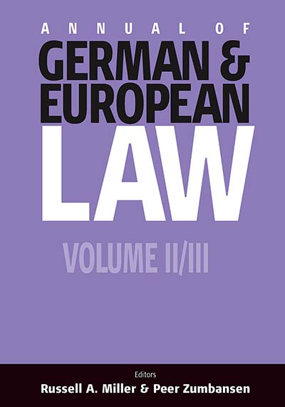 Annual of German and European Law: Volume II and III