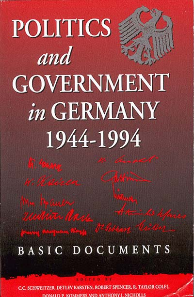 Politics and Government in Germany, 1944-1994: Basic Documents